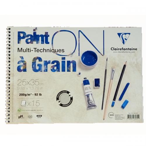 Claırefontaıne Resim Defteri Paınt-On A Graın Çizim Blok 15 YP 25x35 CM 200 GR PD966235