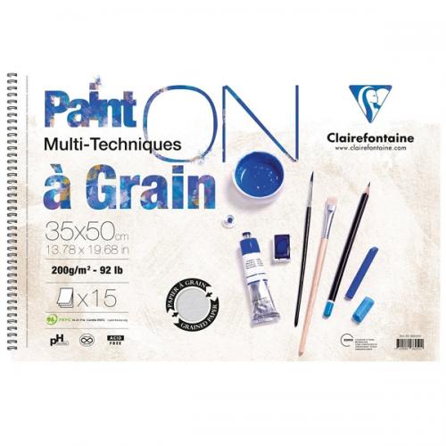Claırefontaıne Resim Defteri Paınt-On A Graın Çizim Blok 15 YP 35x50 CM 200 GR PD966250