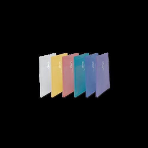Comix Dosya İpli Plastik Körüklü Evrak Zarfı 25.5x31.0 Karışık Renk A1866