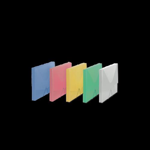 Comix Lastikli Kutu Dosya Şeffaf Renkler A4 A1260