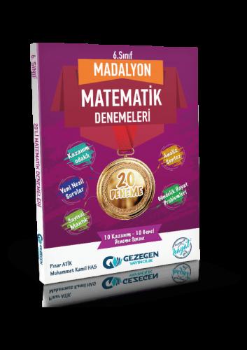6. Sınıf Madalyon Matematik 20'lu Denemeleri Gezegen Yayıncılık