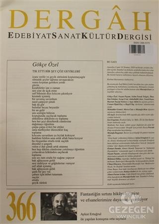 Dergah Edebiyat Kültür Sanat Dergisi Sayı: 366 Ağustos 2020