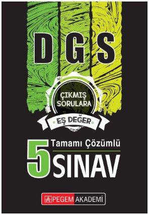 2019 DGS Tamamı Çözümlü 5 Sınav  Pegem Akademi Yayıncılık