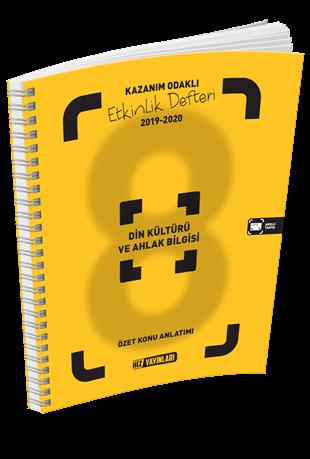Hız Yayınları 2021 8. Sınıf Din Kültürü ve Ahlak Bilgisi Kazanım Odaklı Etkinlik Defteri