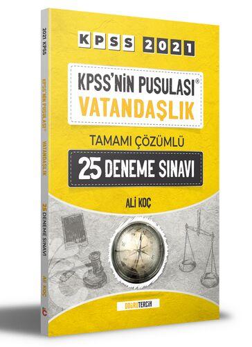 2021 KPSS'NİN Pusulası Vatandaşlık Tamamı Çözümlü 25 Deneme Sınavı