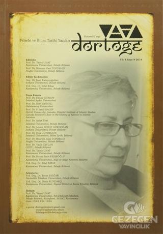 Dörtöğe Felsefe Ve Bilim Tarihi Yazıları Hakemli Dergisi Sayı: 9 Nisan 2016