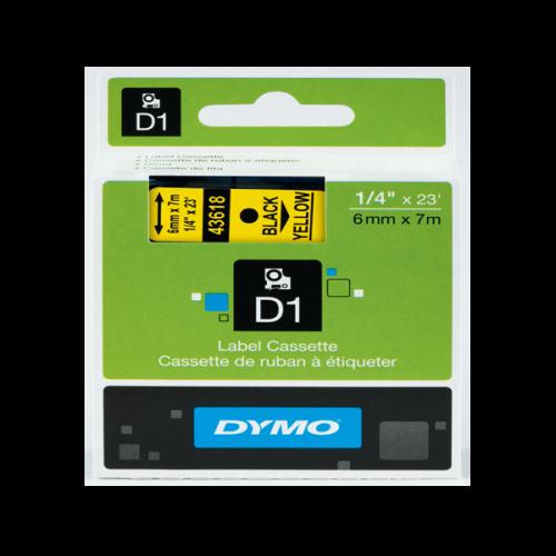 Dymo D1 Şerit Standart 6 MMx7 MT Sarı Üzerine Siyah 43618 S0720790