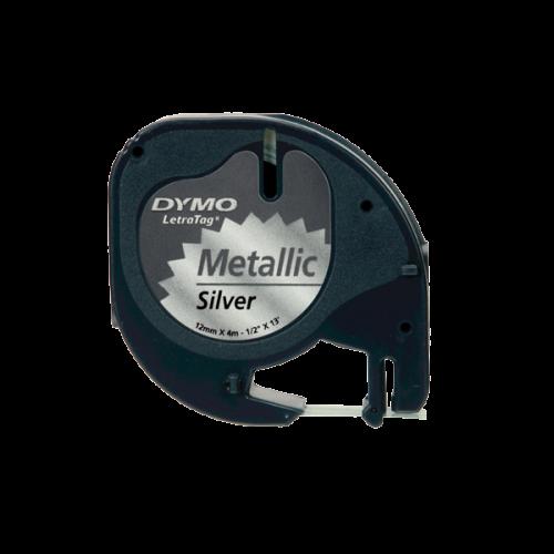 Dymo Letratag Şerit Metalik 12MMx4 MT Gri 91208