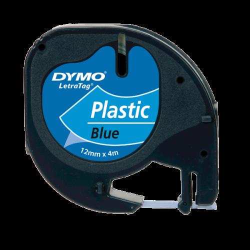 Dymo Letratag Şerit Plastik 12MMx4 MT Mavi 91205