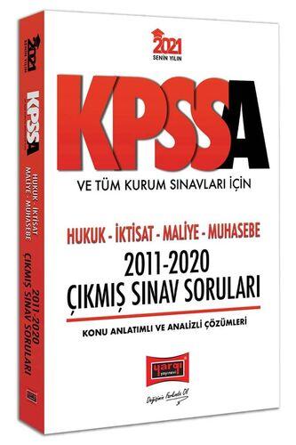 Yargı Yayınları 2021 KPSS A Grubu ve Tüm Kurum Sınavları İçin Hukuk-İktisat-Maliye-Muhasebe 2011-2020 Çıkmış Sınav Soruları