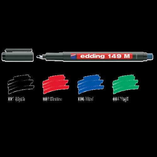 Edding Asetat Kalemi Permanent M Seri 1 MM Yeşil 149M