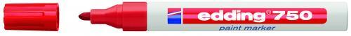 Edding Markör Boya 2-4 MM Yuvarlak Uçlu Kırmızı 750