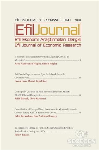 Efil Ekonomi Araştırmaları Dergisi Cilt: 3 Sayı: 10 -11 2020