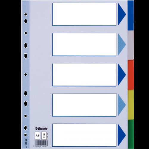 Esselte Seperatör 5 Renkli Plastik A4 15259