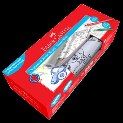 Faber-Castell Boyama Seti Yapışkanlı Resim Kağıdı Keçeli Boyama Kalemi Erkek 5089871200
