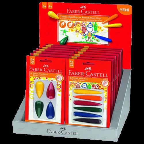 Faber-Castell Damla&Mum Parmak Boya Standı 16 LI 5281120406
