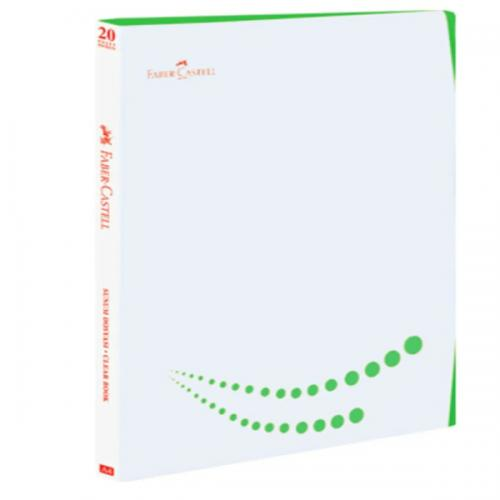 Faber-Castell Katalog (Sunum) Dosya Çift Renkli 20 Lİ Yeşil