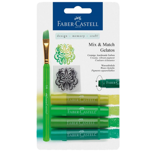 Faber-Castell Mum Pastel Boya Wax Crayon 4 Renk Yeşil Tonları 12 18 04