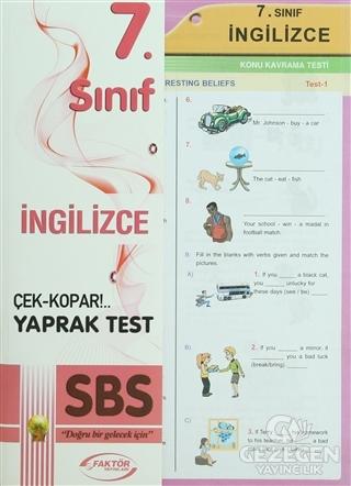 Faktör 7. Sınıf İngilizce Yaprak Test