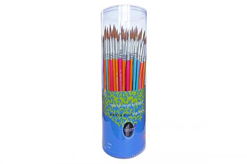 Fanart Yuvarlak Fırça Sentetik Kıllı Akrilik-Yağlı Boya 144 LÜ Renkli 535