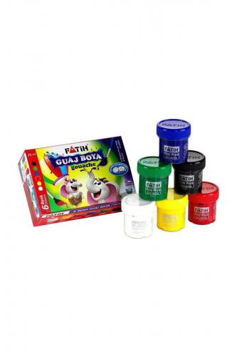 Fatih Guaj Boya Karton Kutu Şişe 6 Renk 25 ML 50410