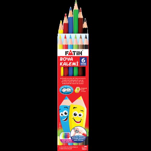Fatih Kuru Boya Karton Kutu Tam Boy 6 Renk 33106