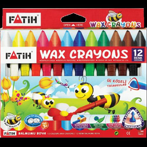 Fatih Mum Pastel Boya Wax Crayon Jumbo 12 Renk 50220