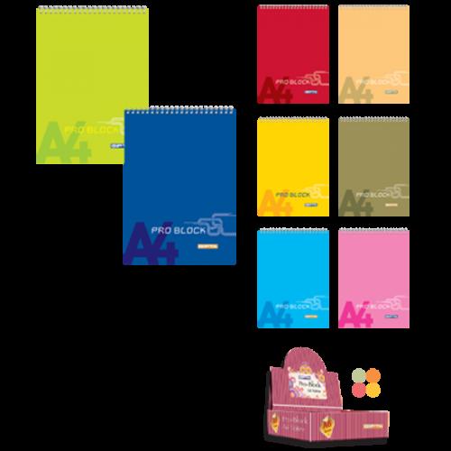 Gıpta Bloknot Pro-Block Spiralli Karton Kapak Çizgili 40 YP A5 1400