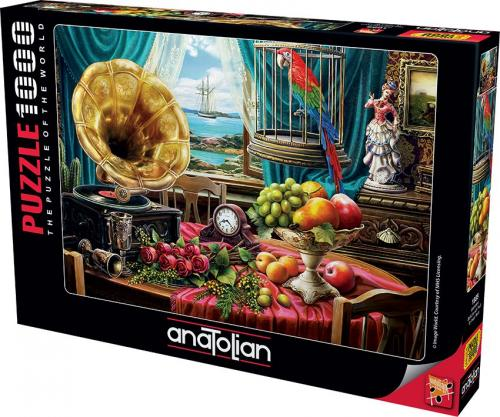Anatolian Gramofon  Still Life With Fruit 1000 Parça Puzzle - Yapboz