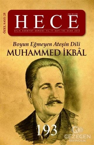Hece Aylık Edebiyat Dergisi Muhammed İkbal Özel Sayısı: 25 - 193 (Ciltli)