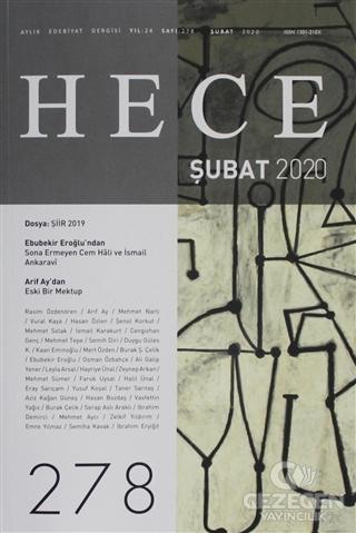 Hece Aylık Edebiyat Dergisi Sayı: 278 Şubat 2020