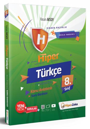 Hiper Zeka 8. Sınıf Hiper Türkçe Soru Bankası - Hasan Aksoy Hiper Zeka Yayınları