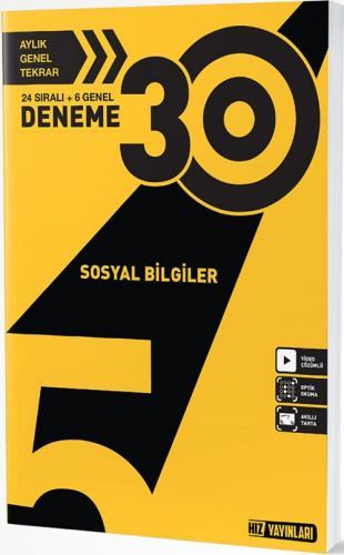 Hız Yayınları 5. Sınıf Sosyal Bilgiler 30 Deneme