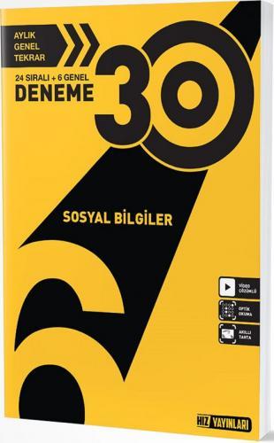 Hız Yayınları 6. Sınıf Sosyal Bilgiler 30 Deneme