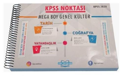 HMC Yayınları 2020 KPSS Noktası Genel Kültür Mega Boy Poster Ders Notları HMC Yayınları