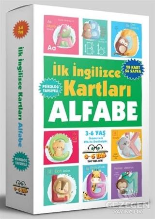 İlk İngilizce Kartları - Alfabe (3-6 Yaş)