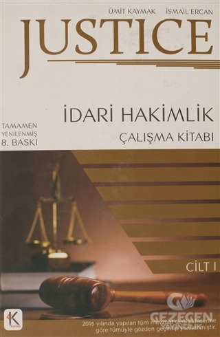Justice İdari Hakimlik Çalışma Kitabı 1.Cilt 2018