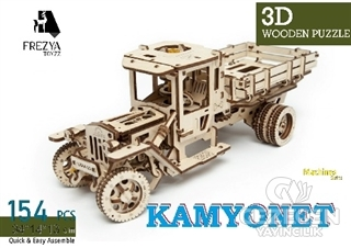 Kamyonet Ahşap 3D Wooden Puzzle