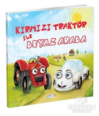 Kırmızı Traktör ile Beyaz Araba