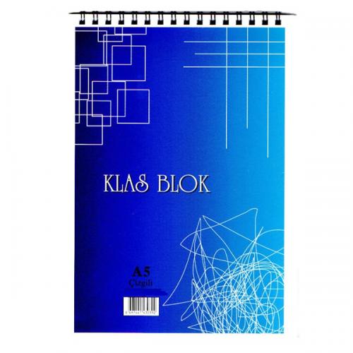 Klas Bloknot Spiralli Kareli 40 YP A5