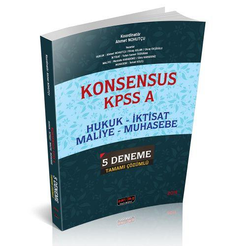 KONSENSUS KPSS A Hukuk, İktisat, Maliye, Muhasebe 5 Deneme Tamamı Çözümlü Savaş Yayınları 2019