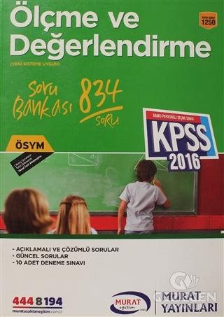 KPSS 2016 Ölçme ve Değerlendirme Soru Bankası