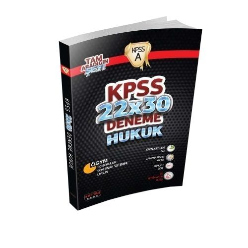 KPSS A Grubu Hukuk 22x30 Deneme Savaş Yayınları