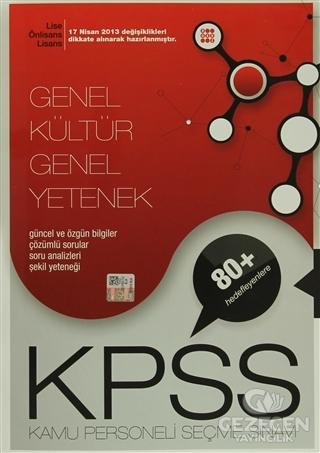 KPSS Genel Kültür Genel Yetenek Lise -Önlisans Konu Anlatımlı Tek Kitap +80 Hedefleyenlere