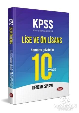 KPSS Lise ve Ön Lisans Tamamı Çözümlü 10 Fasiküllü Deneme Sınavı