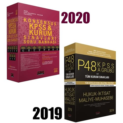 KPSS P48 A Grubu Tek Kitap+Konsensus KPSS Seti Savaş Yayınları 2020