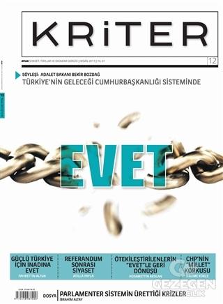 Kriter Aylık Siyaset Toplum ve Ekonomi Dergisi Sayı: 12 Nisan 2017