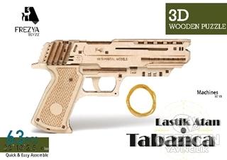 Lastik Atan Tabanca Ahşap 3D Wooden Puzzle