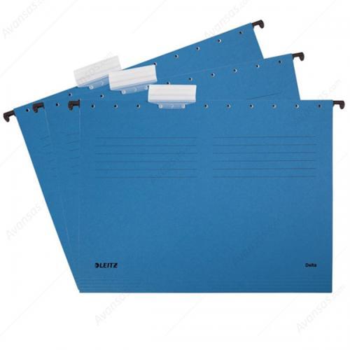 Leitz Askılı Dosya Telsiz Karton A4 Mavi 6515