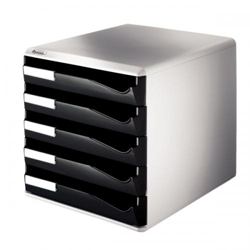 Leitz Evrak Rafı Çekmeceli Plastik 5 Lİ Siyah 5280